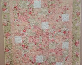 Pastel Flower Garden Baby Quilt