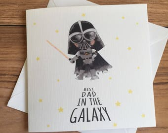 Greatest Dad / Greatest Daddy In The Galaxy • Father's Day Card • Birthday Card • Star Wars • Darth Vader