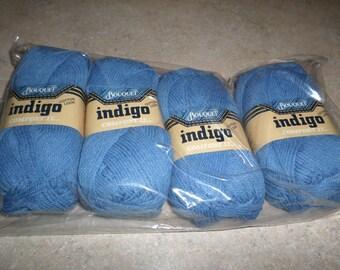 Lot of 4 Skeins Indigo by Bouquet 50g