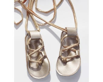 baby gladiator sandals, baby Jesus shoes, toddler lace sandals
