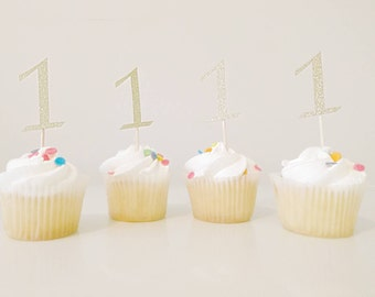 Cupcake Toppers, Party Decor, 1st Birthday, Birthday