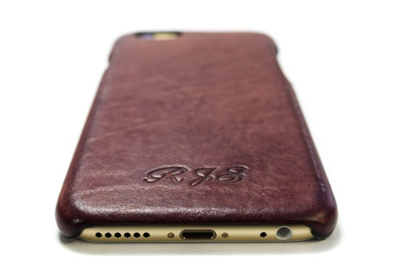 NEW iPhone Leather Case made by Aged Washed leather for 7 6S Plus SE 5s 5c 4s to use as protection CHOOSE Body colour