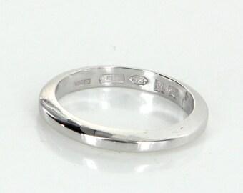bulgari 950 platinum band ring sz 6 12 estate fine designer jewelry pre owned