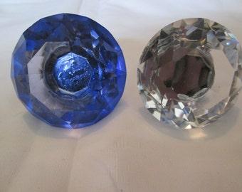 Clear glass drawer knob pull