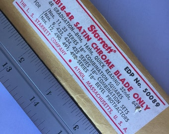 L009  Metal drafting ruler Starrett CB18-4r