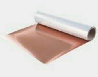 Metallic HEAT TRANSFER stretch vinyl sheets rose gold, silver, gold, red, green, fuschia, and blue available