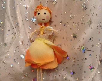 """Handmade Fairy- """"Peach fairy"""""""