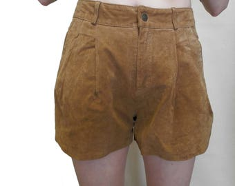 Suede Shorts (Waist: 28 Inches 71cm)