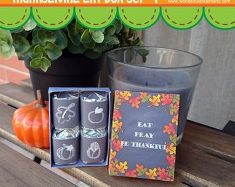 Thanksgiving Candy Box - PDF JPG Instant Download Printable Digital File