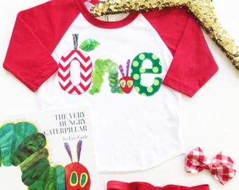 Sweet Sprouts Very Hungry Caterpillar 1st Birthday Party Shirt