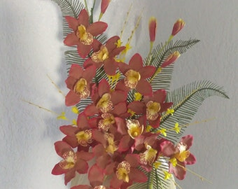 Dendrobium orchid flower centerpiece