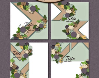 Digital Scrapbooking: Layout Template,Commercial Use,  This Way