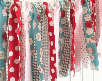 scrappy fabric banner high chair banner fabric banner party decor nursery decor