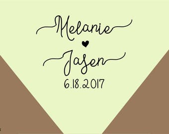 save the date stamp -Custom wedding rubber stamp  -name&date Initial Stamp., Wedding Favors Stamp,custom stamps-wedding favor stamp