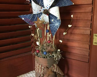 Patrotic Pinwheel centerpiece