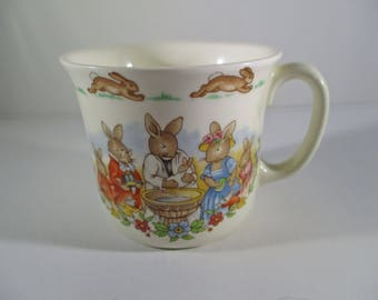 Bunnykins Celebrates Your Christening Royal Doulton Fine Bone China Cup Mug 1936