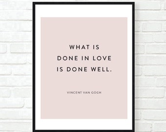 vincent van gogh office bedroom art poster quote inspirational typographic print work motivational tumblr room decor framed quotes believe