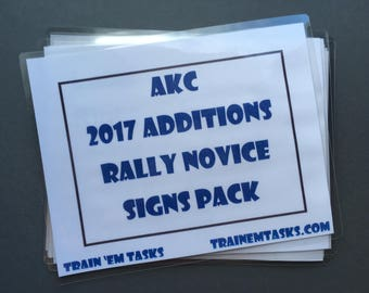 Full Size AKC 2017 Rally Novice Expansion Pack