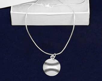 12 I Love Softball Necklaces (12 Necklaces) (N-02-SPBA)