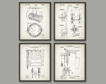 Theater Patent Prints Set of 4 - Drama Student - Theater Art - Performing Arts - Theatrical Equipment - Actor Or Actress Gift - Stage School