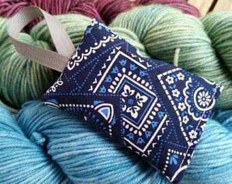 Blue Bandana Lavender Sachet Handmade