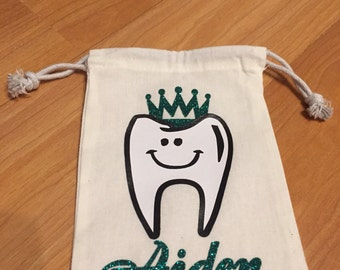 Personalized tooth fairy bag, toothfairy pouch, tooth fairy keepsake