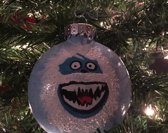 Hand Painted Abominable Snowman Ornament