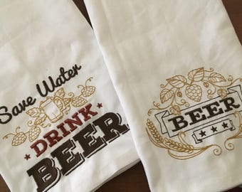 Craft Beer Kitchen / Bar Towels - Set of TWO