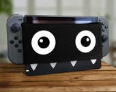 Switch Dock Sock Chomp Video Game Screen Protector Cozy Tablet Protection Soft Plush Docking Nerd Cover Pixel Housing Joy Retro Gaming 2017