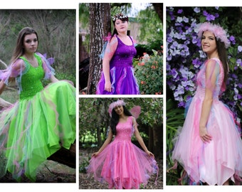 Adult Fairy Halloween Costume ~ Carnival Mardi Gras  ~ Tulle  Fairy Party Dress ~ Masquerade ~ Theatre ~ Fantasy ~