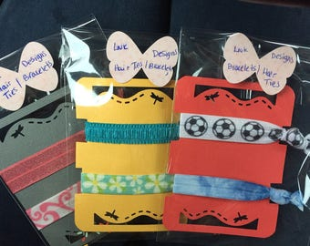 Hair Ties Hair Elastics Bracelets Handmade Top Quality Elastic 5/8 inches Your Choice 3 styles 2 per package
