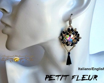 "Orecchini ""Petit Fleur"" PDF Beading  (Tutorial graphics images, photos step by step in Italiano or English)"