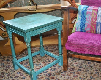 Upcycled Shabby Chic Side Table