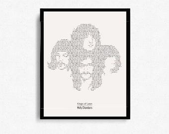 "Kings Of Leon ""Molly's Chambers"" Typographic Print Design - Wall Art - Minimalist Art - Graphic Design"
