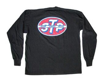 Vintage Stone Temple Pilots Oval Logo Sleeve T-Shirt XL 90s Grunge Rock Band Scott Weiland