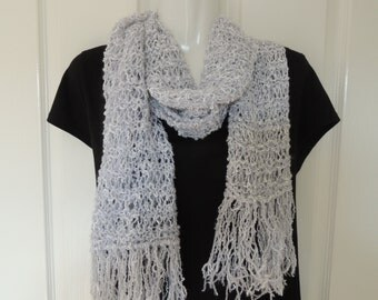 Grey scarf. Hand knitted. mens scarf. Womans scarf. Scarves. long scarf. fashion scarf. gray scarf. Handmade. Hand knit. Australian seller
