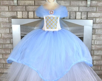 Deluxe Baby Blue Extra Full Princess Tutu Dress Costume for Weddings, Pageants, Photos, Birthdays