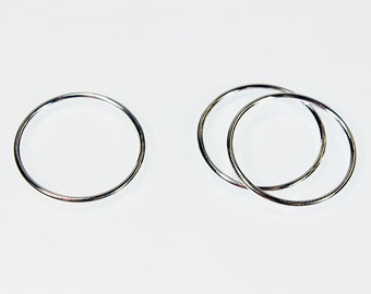 Sterling Silver 1mm Stacking Rings (Pkg of 3) (870S-X) Choose Size