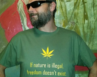 Pot Shirt Weed Friendly Natural High Shirt