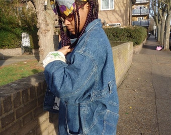 Vintage ladies denim padded jacket