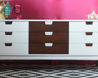 Mid Century Dresser - Lacquered in Glossy White