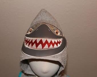 Hooded Towel - Personalized Hooded Towel - Shark Hooded Towel for Kids - Towel for Toddlers -Adult Hooded Towel - Hooded Towel for baby