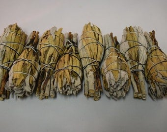 "White Sage + Yerba Santa Smudge Incense 3""-4"" Bundle (8 pcs)"
