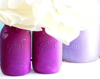 Distressed Mason Jars for Weddings