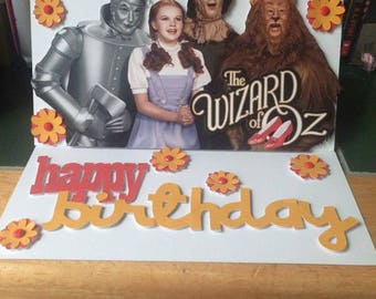 Wizard of Oz Birthday Card, Wizard of Oz, Dorothy, Movie Birthday Card, Favourite Film Birthday card, dorothy birthday card, movies, films,