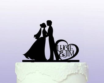 Personalised Wedding Kiss Cake Topper (and options with Cat!)