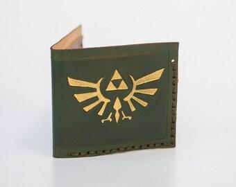 Zelda Leather Wallet - Geek wallet - Minimalist wallet - Six card slots - Express Shipping