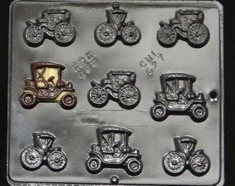 Antique Cars Small Chocolate Candy Mold  527