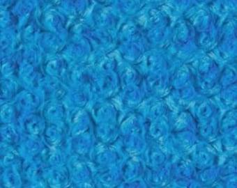 Minky Rosette Turquoise