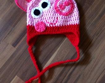 Pig Earflap Hat